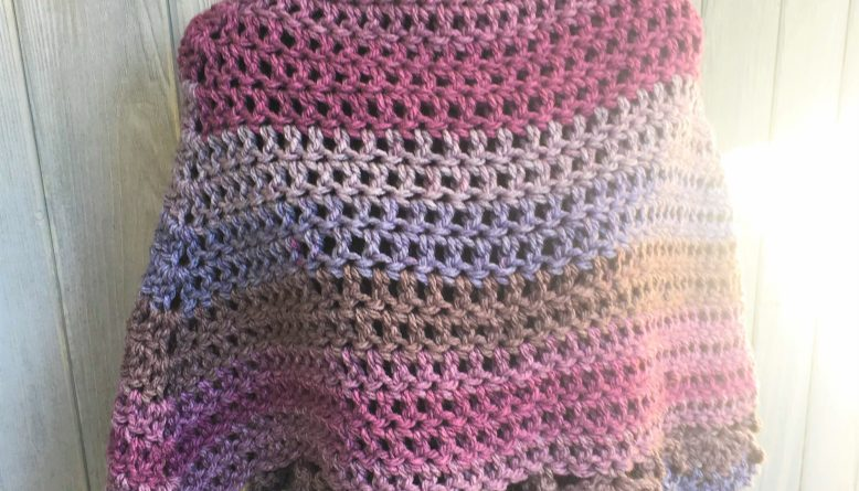 Easiest Crochet Poncho Ever Light And Joy Designs