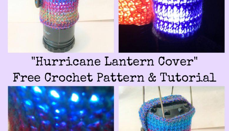 crochet lantern cover pattern
