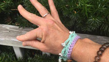crochet yoga bracelet