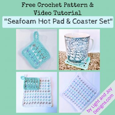 Seafoam HotPad Coaster Set