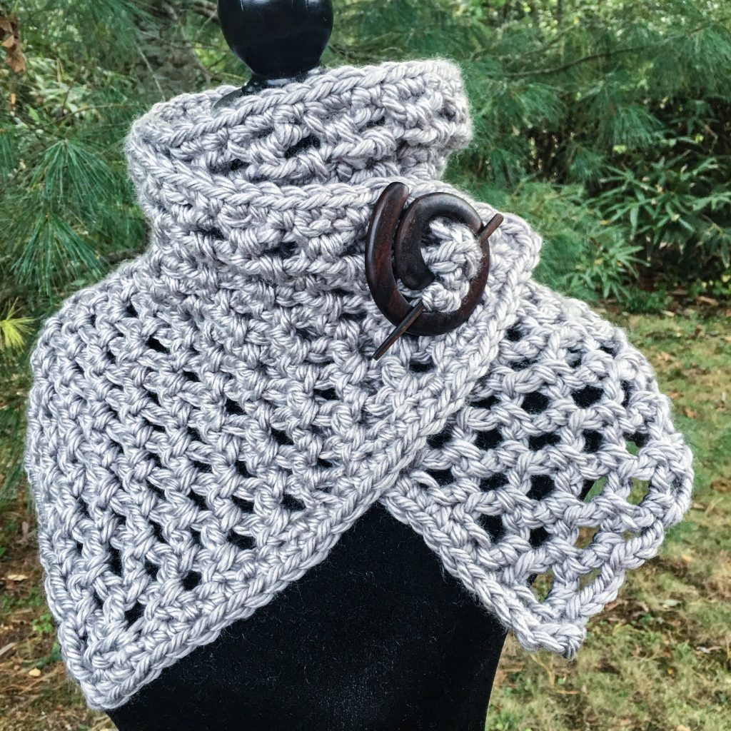 mini crochet scarf shawl
