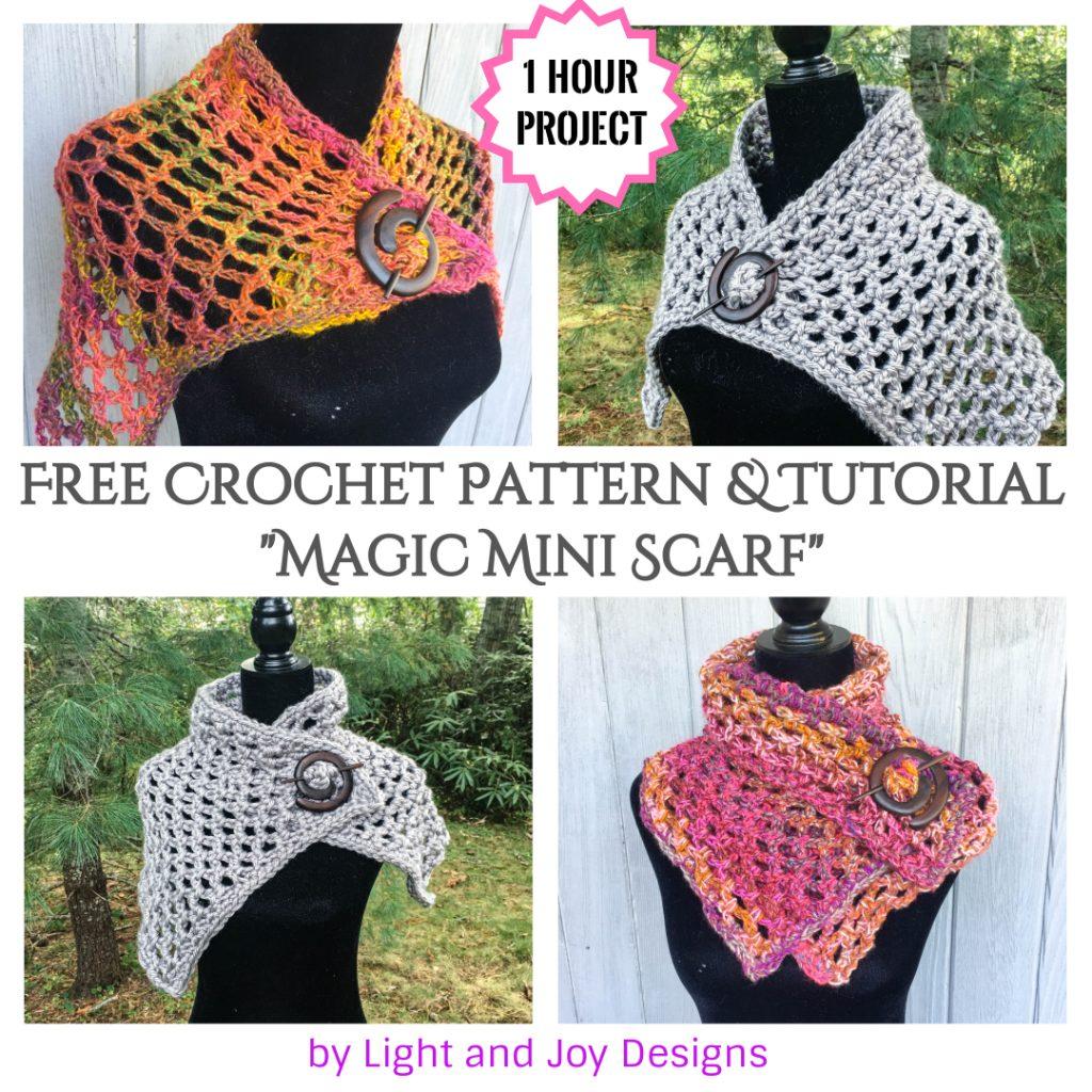 Magic Mini Mesh crochet Scarf Shawl