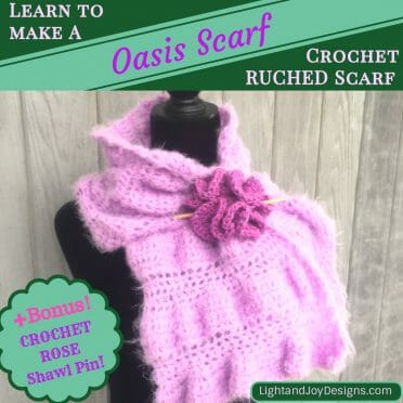 Crochet Oasis Scarf Ruching