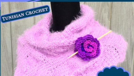 oasis scarf wrap ruched crochet tunisian crochet