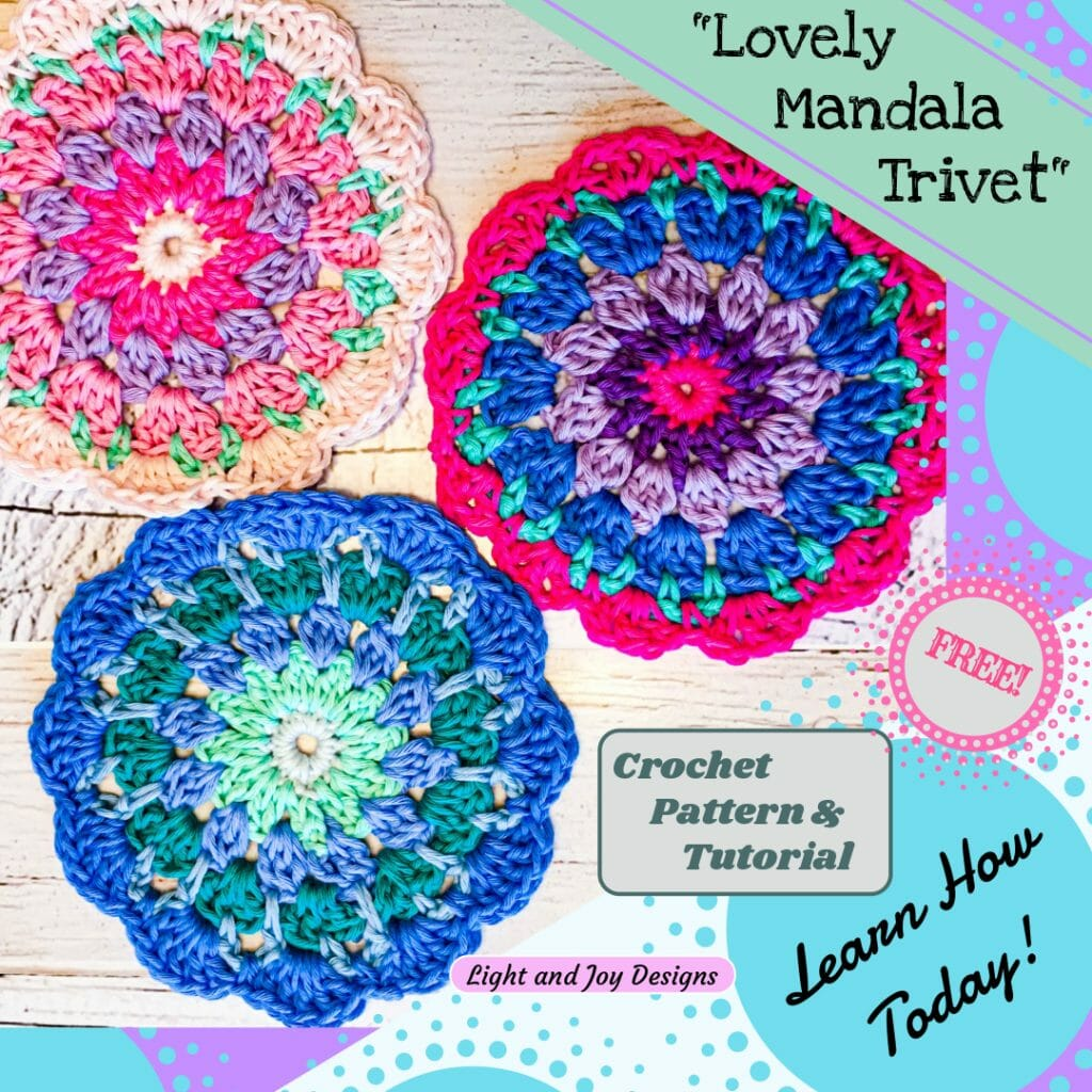Lovely Mandala Trivet - Free Crochet Pattern
