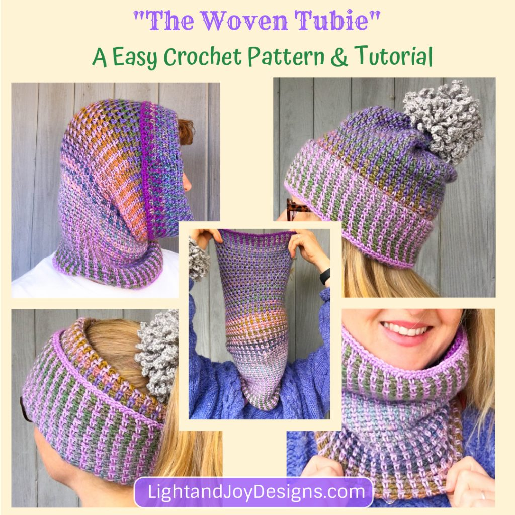 The Woven Tubie Convertible Hat Cowl Crochet Pattern