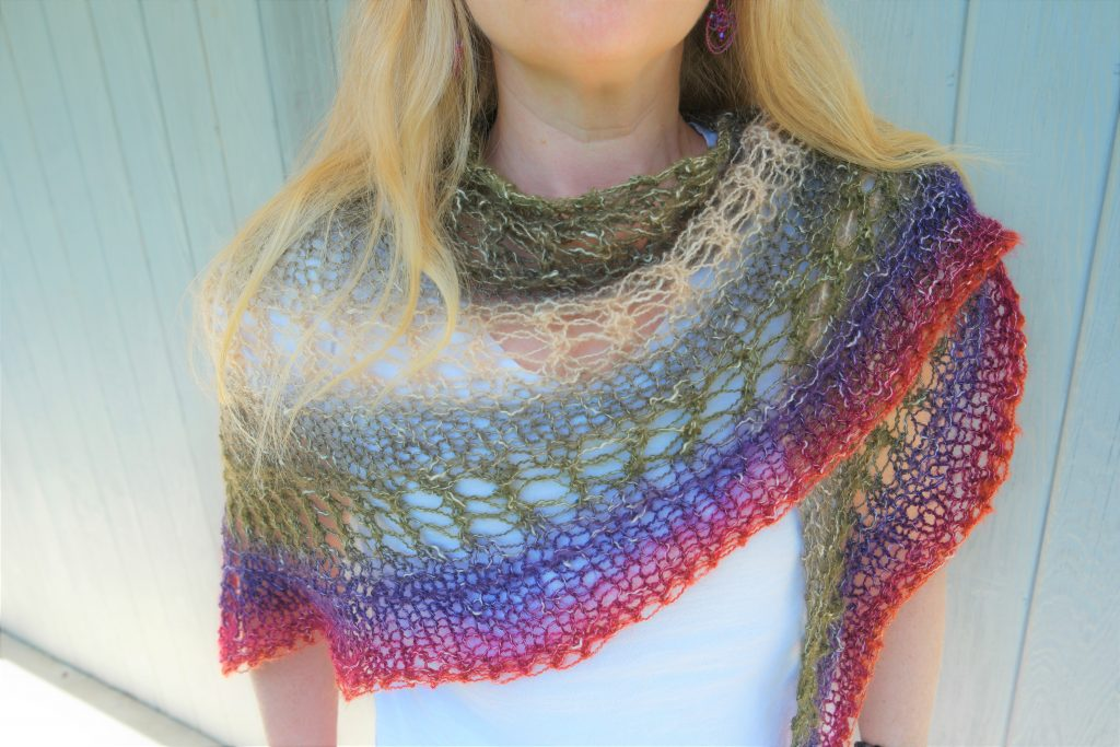 Mystical Aura Knit Shawl Pattern