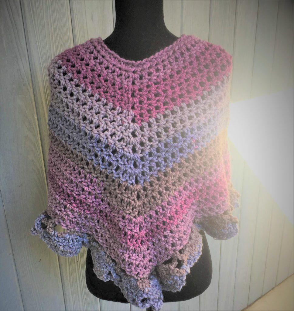 easiest crochet poncho ever
