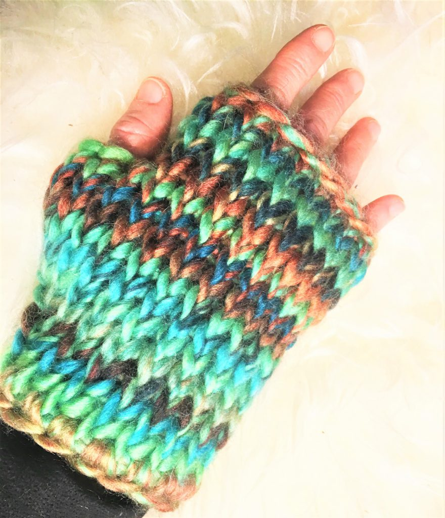 Emerald Isle Fingerless Mitts