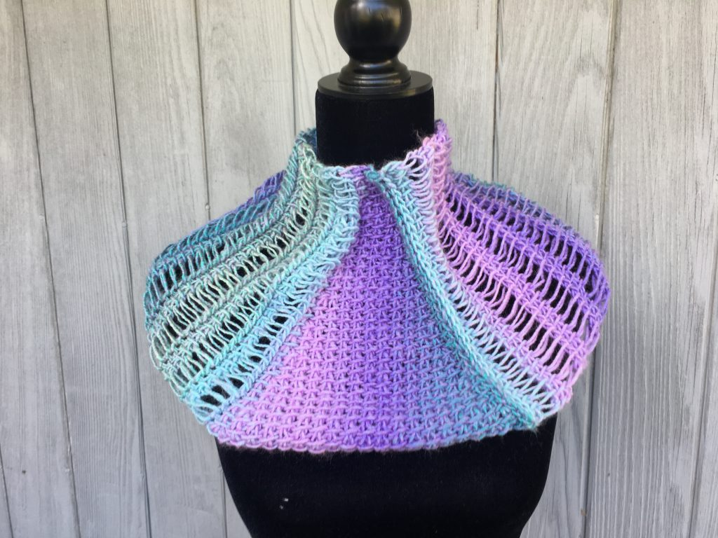 waterfall cowl tunisian crochet pattern