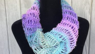 WaterfallCowl Tunisian Crochet Dropstitch pattern