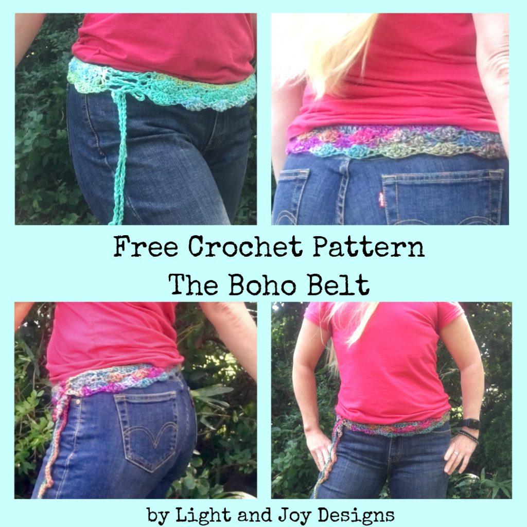 Free Crochet Pattern: Boho Belt by Light & Joy Designs