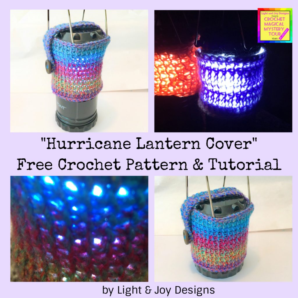 crochet lantern cover pattern