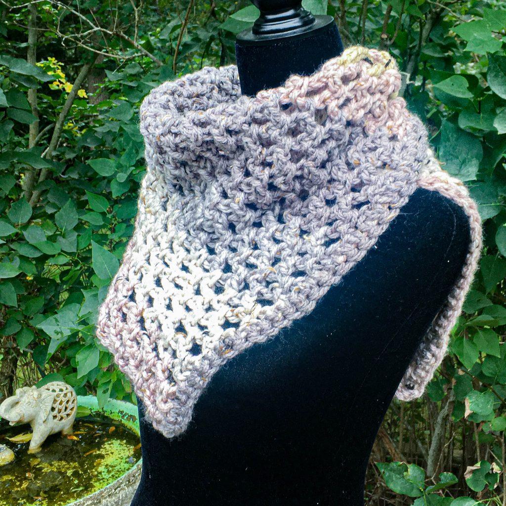 Crochet Mesh Magic Mini Scarf Shawl