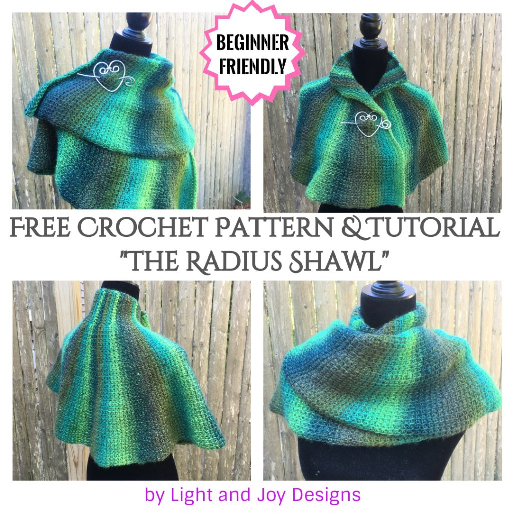 The Radius Shawl - Tunisian Crochet