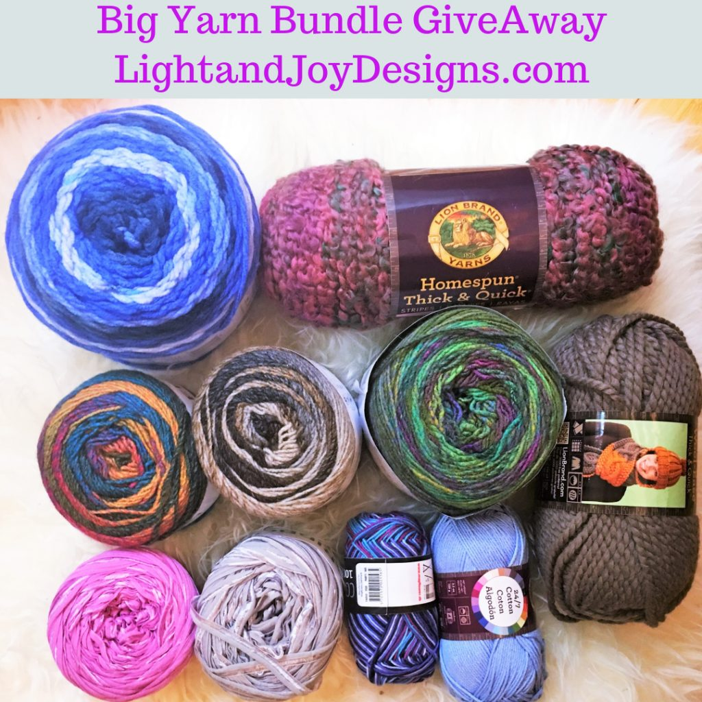 Yarn Giveaway Light and Joy Designs