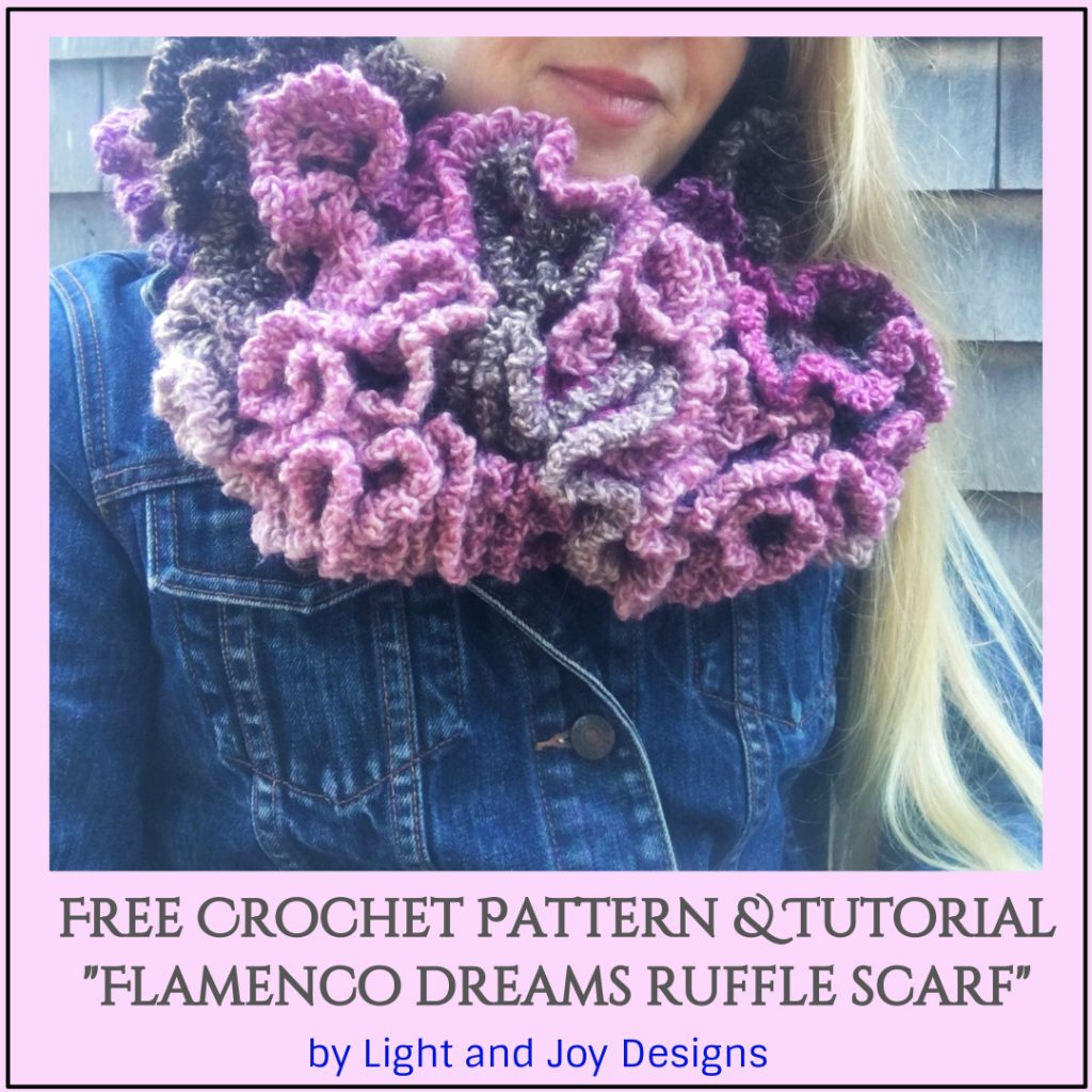 Crochet Ruffle Scarf - Flamenco Dreams
