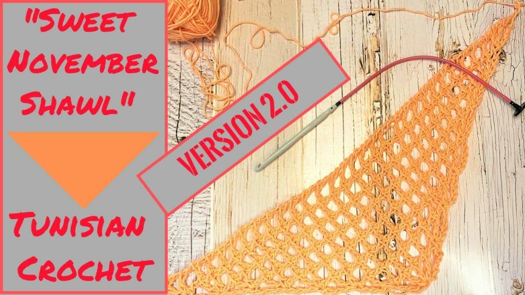 Sweet November Shawl Tunisian Crochet Version 2